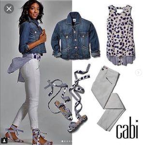CAbi Zip Skinny Jean - size 6